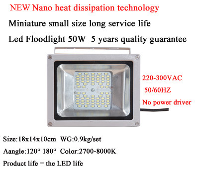 New Dimmable Led Floodlight Hns 50w