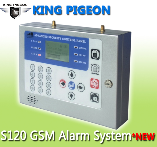 New Lcd Display Menu Office Gsm Alarm System S120