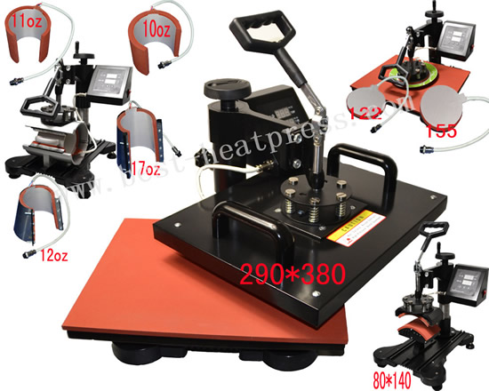 New Slide 8in1 Combo Heat Press Machine