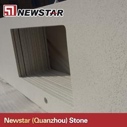 Newstar Kitchen Use Artificial White Quartz Countertops