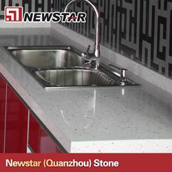 Newstar Prefab Quartz Countertops With Kitchen Sink