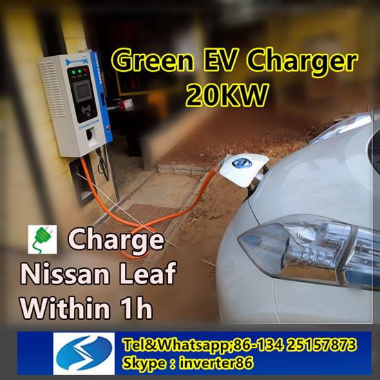 Nissan Leaf Of Ev Charging Station