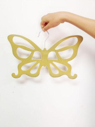 Non Slip Velvet Butterfly Silk Scarf Organizer