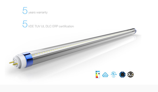 Offer 5 Years Warranty T8 Led Tube With Ul Fcc Tuv Dlc Dve Rohs Certificates