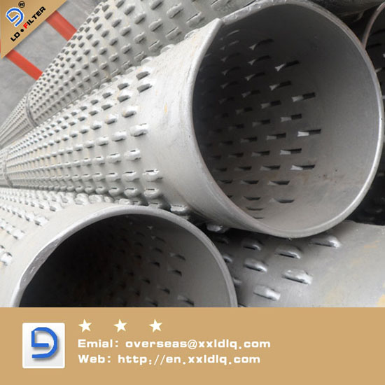 Oil Sand Control Screen Erw Bridge Slotted Steel Pipe