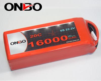 Onbo 16000mah 22 2v 20c 6s1p Lipo Battery Pack