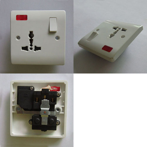 One Gang 13a Multifunction Swtiched 65288 Plug Socket 65289 With Neon