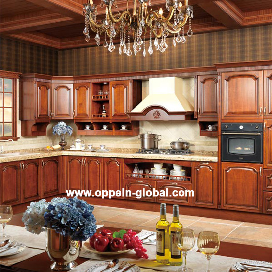 Op14 123 Solid Wood Kitchen Cabinet