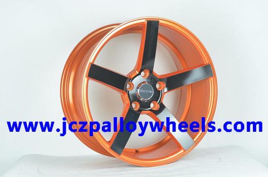 Orange Machined Face Alloy Wheel Rims 17x8 0
