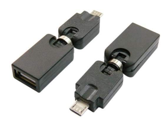 Otg Micro Usb Bm To Af Rotatable Adapter