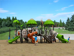 Outdoor Playground Equipment Slide Set For Kids Fy02401