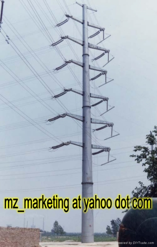 Overhead High Voltage Power Transmission Line Tower