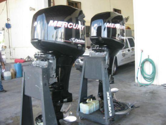 Pair Of 2009 Mercury Opt Max 250 Hp Outboard Motors