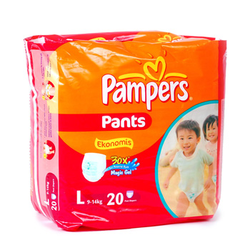 Pampers Orange Pants L 20s