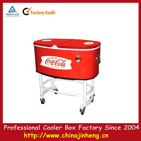 Party Cooler Easy Carry Double Doors For Access