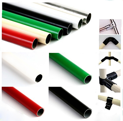 Pe Coated Lean Tube Plastic Steel Pipe Hardware Fitting Supplier Manufacturer