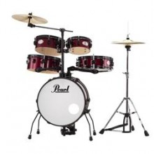 Pearl Rhythm Traveler 5 Piece Practice Drum Set With Cymbals