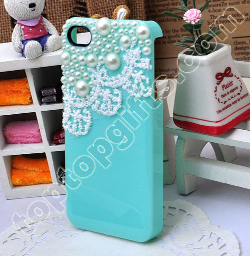Pearl With Lace Iphone4 Shell Case Cover