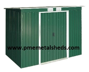 Pent Roof Metal Sheds 4 X 8 Ft Easy Assembly Buildings Pmemetalsheds