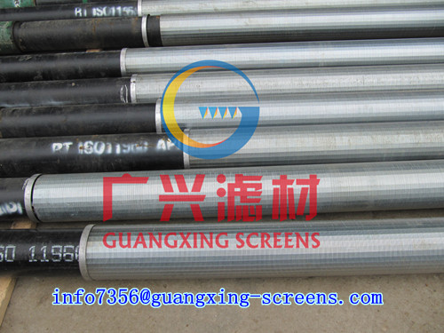 Perforated Base Pipe With V Shaped Slotted Well Screen