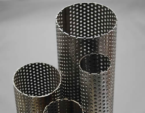 Perforated Stainless Steel Tube Used In Exhaust Or Filtration Fields