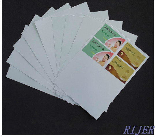 Pet Laser Sheet Double Side A4 A3 For Laminating Card White