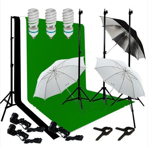 Photography Studio Lighting Kit With Background Stand