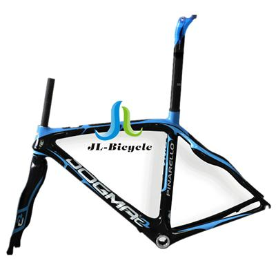 Pinarello Dogma 2 Road Bike Carbon Fiber Integrated Frame Fork Seatpost Headset Clamp Blue