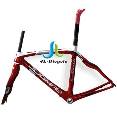 Pinarello Dogma 2 Road Bike Carbon Fiber Integrated Frame Fork Seatpost Headset Clamp Red