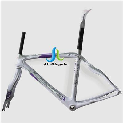 Pinarello Dogma 2 Road Bike Carbon Fiber Integrated Frame Fork Seatpost Headset Clamp White Problem