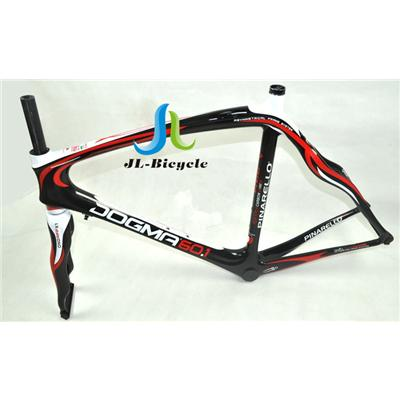 Pinarello Dogma 60 1 Road Bike Carbon Fiber Integrated Frame Fork Seatpost Headset Clamp Black Red