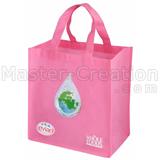 Pink Nonwoven Bag Logo Wholesale Eco Market Shopping