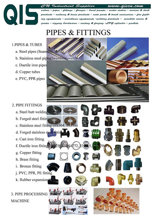 Pipes And Pipe Fittings Stainless Steel Cast Iron Ductile Brass