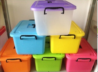 Plastic Household Storage Box With Lid