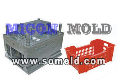Plastic Logistics And Warehousing Crate Mould