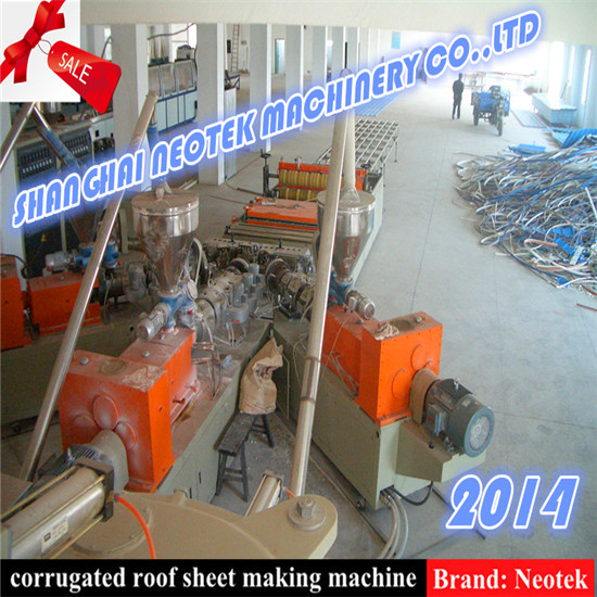 Pmma Pvc Coloured Glaze Tile Extrusion Line