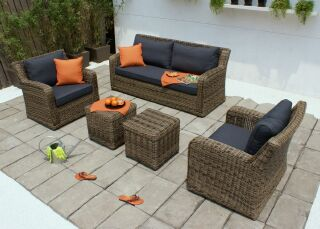 Poly Rattan Outdoor Sofa Set
