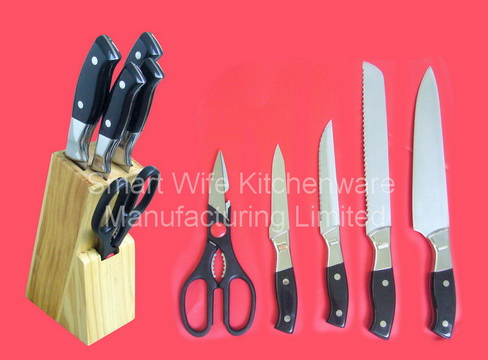 Popular Stainless Steel Kitchen Sets Of Scissors Knife