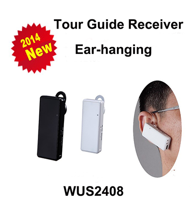 Portable Mini Audio Guide System Ear Hanging Tour Group Listening Receiver Wus2408