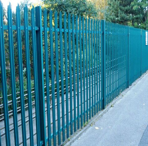 Power Painted Or Hot Dipped Galvanized Palisade Fence