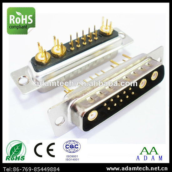 Power Supply D Sub Connector 13w3 Male Dip Straight Type