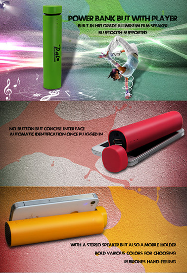 Powerbank For Speaker And Holder Function