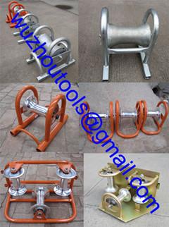 Pressed Steel Pipe Cable Roller Triple Corner Rollers