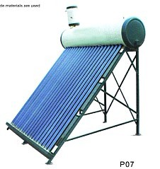 Pressured Solar Heater With Copper Coil