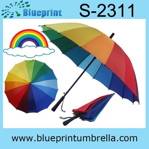 Pretty Lady Fashion Rainbow Umbrella Hot Sale