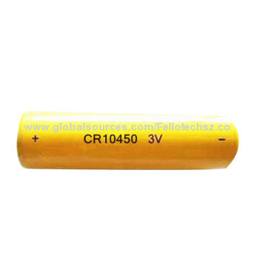 Primary 3v 600mah Cylindrical Limno2 Battery Cr10450 For Camera Cmos Memory Backup Earthquake Detect