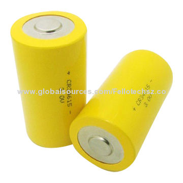 Primary 3v D Size Cr34615 High Power Limno2 Lithium Cylindrical Battery For Security System Wireles