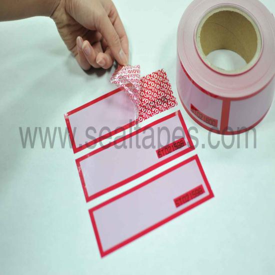 Printable Serial Number Security Tape