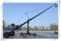 Pro Triangle Crane With Column Four Wheel Dolly