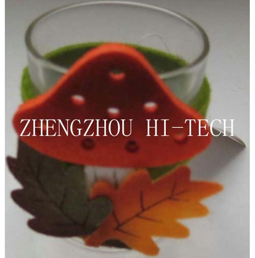 Promotion Gift Mushroom Design Felt Glass Holder